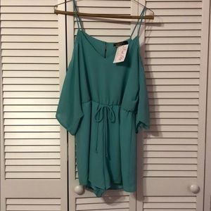 Turquoise romper size small